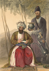 Mahomed Naib Surreef, a celebrated Kuzzilbach chief of Caubul and his Peshkidmut
